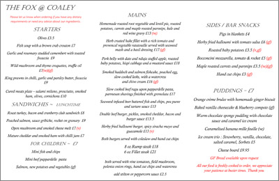 Click here for our menu